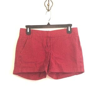 [J. Crew] Red/Blue Striped Shorts - Size 0
